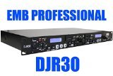 Professional Dj Dual Cd Player (EMB Professional DJR30 1U DUAL USB/SD Digital Player & Recorder Rack Mount)