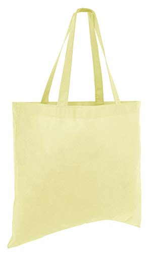 ((50 Pack) Set of 50 Cheap Budget Promotional Large Tote Bags (Natural))