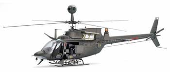 "OH-58d Kiowa Helicopter ""Black Death"" Model kit 1/35 Scale"