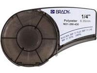 Brady M21-250-430 Cartridge, B430 Clear Polyester Material, 0.25