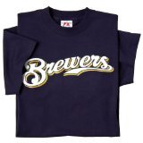 Majestic Adult MLB Replica Crewneck Team (Milwaukee Brewers Womens Replica Jersey)