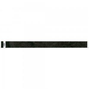 3/4 SOLID TRUE BLACK Tyvek 500 COUNT Wristbands