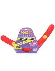 Red plastic boomerang - Case of 72 by bulk buys