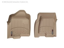 WeatherTech Custom Fit Front FloorLiner for Cadillac Escalade, Tan ()