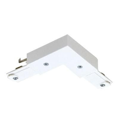 Basic Lytespan® L Connector, For Use With Lytespan® 1-Circuit Track Lighting Systems, Matte White - One Circuit Track System
