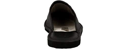 Para Cuero Lujo Casa Hombre Negro Natural De 890 Zapatillas Ztqzwx4U