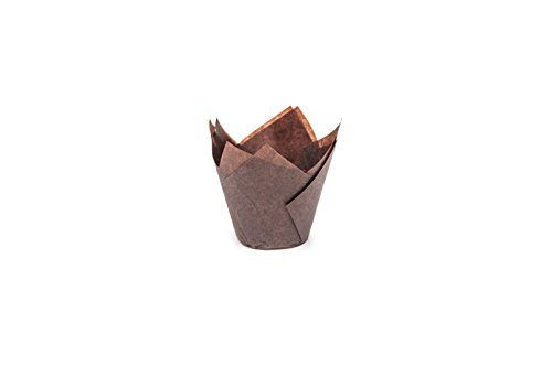Free Sugar Layer Chocolate Cake - Tulip Cupcake Liner Brown Paper Baking Cups Easy Release Muffin cup liners / No need To Spray Cup Perfect For Baking Muffins and Cupcakes, Large 716050B (H 3-27/64
