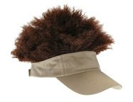 Afro Hat (Adult Visor Hat With Brown Afro Wig)