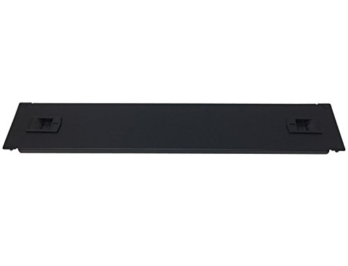 Kenuco 2U Toolless Rackmount Space Spacer Blank Rack Mount Filler Panel for IT Racks and Cabinets, Solid Black, 19'' by Kenuco