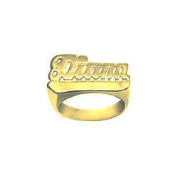 personalized rings gold plate ring overlay nameplate name nikfine finger two