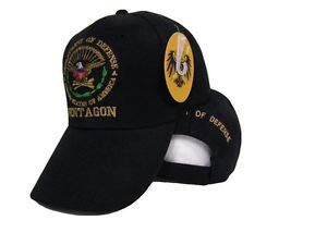 JumpingLight Department of Defense Pentagon America United States Embroidered Cap Hat (RAM) for Home, Official Party, All Weather Indoors Outdoors (Pentagon Tank)