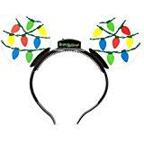 Disney Parks Mickey Mouse Holiday Animated Glow Light-up Ears Headband -