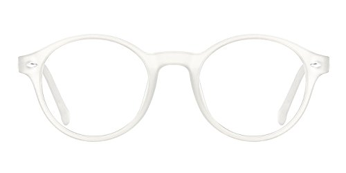 b4a3dfb0f7 TIJN Men Women Classic Round Non-prescription Glasses Frosted Eyeglasses  Frames - Buy Online in Oman.