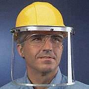 Aluminum Faceshield Bracket, Silver, 1 EA