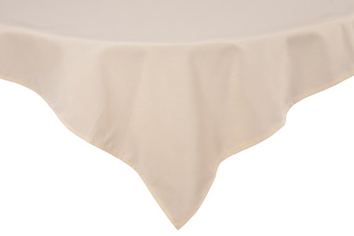 RIEGEL Premier 100-Percent Polyester 52-Inch by 120-Inch Tablecloth, Ivory