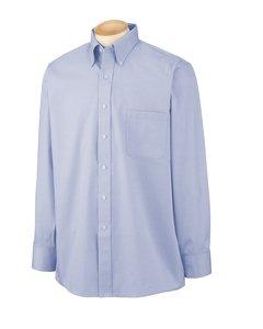 Van Heusen L/S Wrinkle-Resistant Blended Pinpoint Oxford Button Down Dress Shirt 56900 blue XXXL