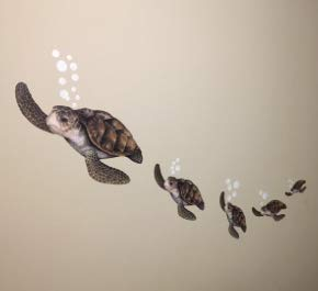 Create-A-Mural : Sea Turtle Family Decals ~Ocean Vinyl Tortoise Underwater Wall Sticker Decor by Create-A-Mural (Image #3)