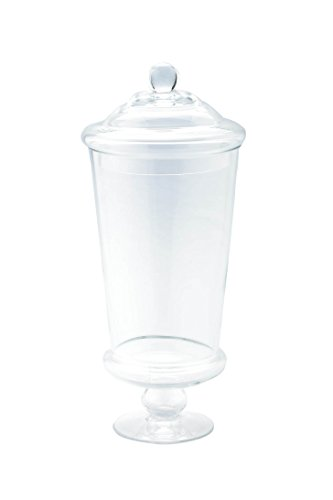 Diamond Star Glass 6'' Dx16 clear Apothecary Jar by Diamond Star Glass