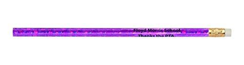 Pencil Guy Promotional Personalized Imprinted Glitz Round Pencils Glitz Purple 144 to a Box]()
