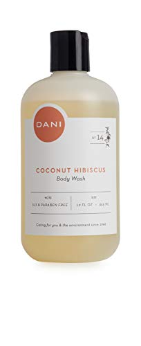 DANI Naturals Body Wash, Coconut Hibiscus Scented, Paraben Free, All Natural – 12 ()