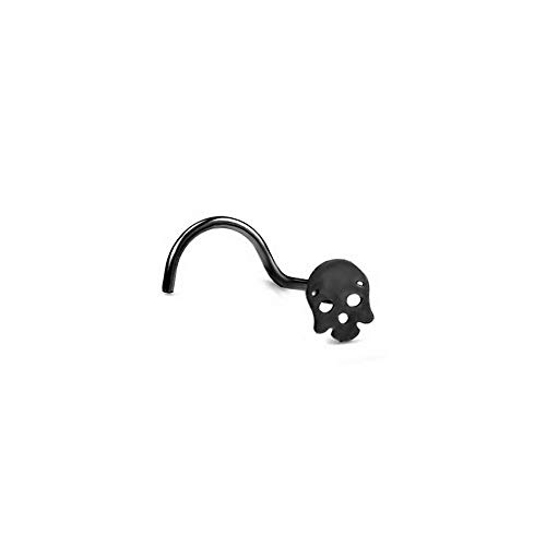 Dokis 1X Surgical Steel Halloween Skull Nose Ring