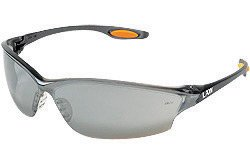 ty Glasses With Smoke Nylon Frame, Silver Mirror Polycarbonate Duramass® Anti-Scratch Lens And TPR Nose Pad And Orange Temple Sleeve ()