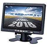 Upgrade Backup Camera Monitor 7 Inch Rearview Reversing LCD Monitor, 1280X720P Resolution Screen, Two Video Input Plug V1/V2 Car Rearview Cameras,- HD Transmission, Four-pin Interface - DVKNM (DBT) by DVKNM