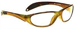 Color-Guard X-Ray Radiation Protection Glasses, 0.75mm Pb Equivalency Lens, Orange by Colortrieve