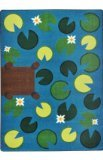 Joy Carpets Kid Essentials Early Childhood Playful Pond Rug, Multicolored, 5'4'' x 7'8'' by Joy Carpets
