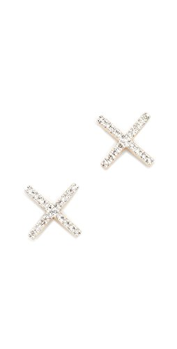 d Pave X Post Earrings (Adina Reyter : Jewelry Earrings)