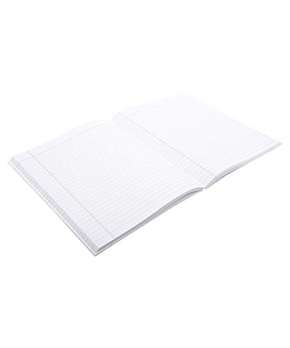 Bittoo Extra Wide Full Size Exercise Book - 221mm x 288mm, Soft Cover, 100 Pages, Single Line - Pack of 10