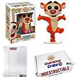 (Funko Pop! SDCC Winnie The Pooh Tigger Flocked, Limited Edition Summer Convention Exclusive, Concierge Collectors Bundle)