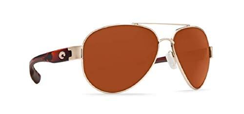 Costa del Mar Women's South Point Polarized Aviator Sunglasses, Rose Gold w/Light Tortoise TemplesCopper 580P, 59 mm (Costa Aviators)