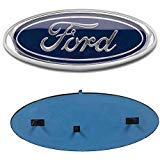 """Automotive : Carstore 2004-2014 Ford F150 Front Grille Tailgate Emblem, Oval 9""""X3.5"""", Dark Blue Decal Badge Nameplate Also Fits for F250 F350, 11-14 Edge, 11-16 Explorer, 06-11 Ranger"""