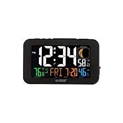 Johnson & Smith Atomic Alarm Desk Clock With USB Port To Charge Cell Phones, Tablets, More