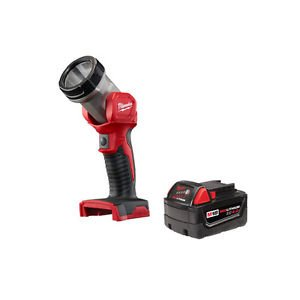 New Tools Milwaukee M18 XC 18V Li-Ion 4.0 Ah Battery with LED Work Light 49-24-2735 (M18 Work Light)