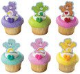 12 ct Care Bears Finger Puppet Cupcake Picks