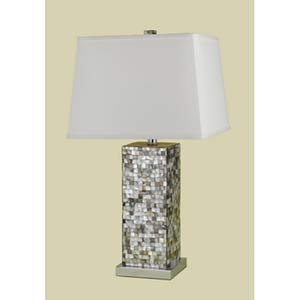 CANDICE OLSON 6671-TL(1035) - Sahara Abalone Shell Table Lamp, 1-150W Standard Bulb, 27HX14.5