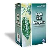 Individual Cello Wrapped Toothpicks-Mint -- 15000 Per - Individual Mint Toothpick Wrapped Cello
