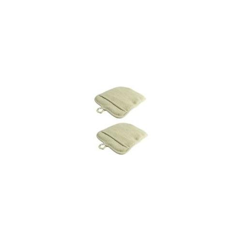Large Terry Cloth Pot Holders, w/Pocket, Potholders, Oven Mitts, Heat-resistant to 200°, 9½ x 8½ Inches, Set of 2 dozens (24 pcs) - Beige Color ()