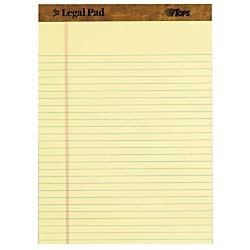 (TOPS Letr-Trim Perforated Legal Pads - 50 Sheets - Double Stitched - 0.34