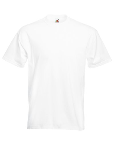 Adult 4.7 oz. Sofspun Jersey Crew T-Shirt (WHITE - WHITE M) (Fruit Of The Loom White T Shirts Wholesale)