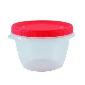 SP Berner - Taper contenedor de comida 0,5L redondo con rosca, Libre de BPA - 3 Unidades