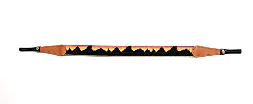 Stitched Needlepoint - Hand-Stitched Needlepoint Sunglass Strap Retainer by Huck Venture (Mountain Range)