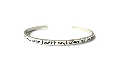 Trust in the Lord Sterling Silver Bracelet|Christian Bracelet| Scripture Jewelry|Proverbs 3:5