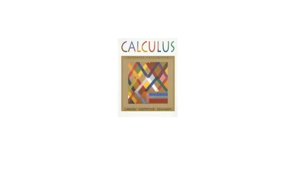 Calculus Alternate 6th Edition Larson Hostetler Edwards Pdf Writer