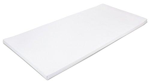 MSS 100300-200.140.7 Viscoelastische Matratzenauflage, RG50, mit Bezug (50% Baumwolle, 50% Polyester), Gr. 140 x 200 x 7 cm