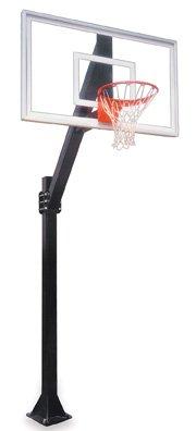 最初チームLegend Jr。select-bp steel-acrylic in ground固定高さバスケットボールsystem44 ;グレー B01HC0DBDS