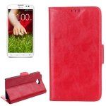 Case with Credit Card Slot & Holder for LG G Pro Lite Dual/D686 (Red) ()
