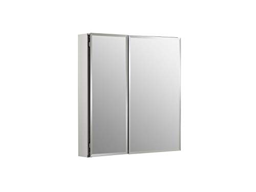 Kohler K-Cb-Clc2526Fs Frameless 25 Inch X 26 Inch Aluminum Bathroom Medicine Cabinet; ; Recess Or Surface Mount (Bathroom Wall Cabinet With Mirrored Door And Shelves)